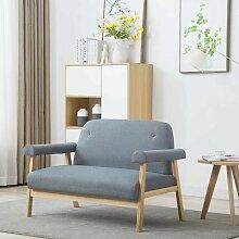 2-Sitzer-Sofa Stoff Hellgrau 12569 - Topdeal