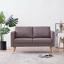2-Sitzer-Sofa Stoff Taupe - Youthup