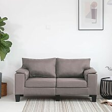 2-Sitzer-Sofa Taupe Stoff 37129 - Topdeal
