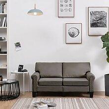 2-Sitzer-Sofa Taupe Stoff - Youthup