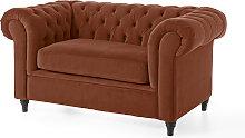 2-Sitzer Sofa Valentina, braun