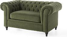 2-Sitzer Sofa Valentina, grün