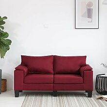 2-Sitzer-Sofa Weinrot Stoff 37128 - Topdeal