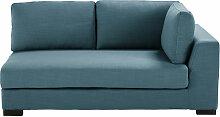 2-Sitzer-Sofamodul mit Armlehne rechts, petrolblau