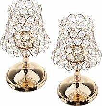 2 STK. Kristallglas Teelicht Kerzenhalter
