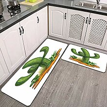 2 STK rutschfest Küchenmatte,Trockenes Klima
