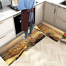 2 STK rutschfeste Küchenmatten und Teppiche