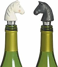 2 Stöpsel Flaschenstöpsel Pferdekopf Pferd