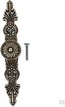 2 Stück 165mm antike Bronzeblumen Schrank Griff Kabinett Griff Fach Kleiderschrank Türzuziehgriff