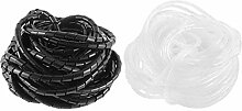 2 Stück 4mm 8mm OD flexibler Draht Spiralhülle 26M 10M Lange Weiß Schwarz