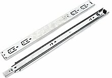 2 Stück Aluminium-Möbel Slide Kugellager Schubladenführungen Schienen 20