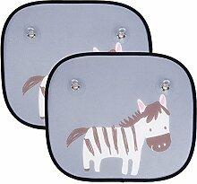 2Stück Auto Fenster Sun Shades Universal Baby Auto Sonnenschutz UV-Ray Schutz für Ihre Kinder Pets Zebra Stylish