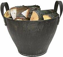 2 Stück Benta Gummikorb, Kaminkorb, Feuerholzkorb, Brennholzkorb, Ø oben 41 cm, Ø unten 25 cm, Höhe: 36 cm, aus recycelten Altreifen, Danto® Se