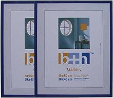 2 Stück Bilderrahmen 40 x 50 metallic blau