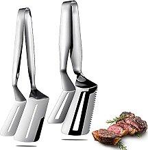 2 Stück Edelstahl Steak Klemmen Doppelseitige