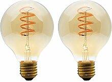 2 Stück Edison Glühbirne E27 LED Leuchtmittel