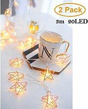 2 Stück Fünf-Stern Sternförmige Rose Gold