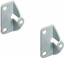 2 Stück - GedoTec® Faltschiebetür Befestigung Griffadapter zum Anschrauben an die Tür Innenseite | Falttüren-Griff für Türdicke 25 mm | Möbelgriff für Schiebetüren | Markenqualität für Ihren Wohnbereich