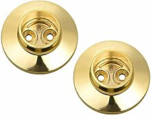 2 Stück Kleiderbügel, goldfarbener Durchmesser