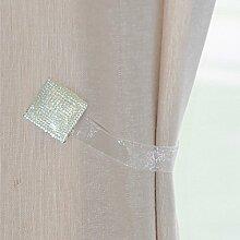 2Stück kristall Magnetische Fenster Gardinen