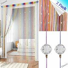 2 Stück Kristallperlen-Vorhang Quasten-Vorhang