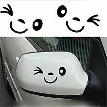 2 Stück Lächeln Gesicht Design 3D Aufkleber