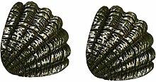 2 Stück Marine Tier Dekorative Tür Schrank Schublade Knöpfe Griffe mit Schrauben, # 04