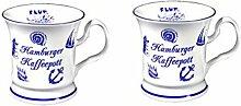 2 Stück- maritim- Porzellan- Tasse, Kaffeepott, Becher- Hamburg -deutsches Produktdesign