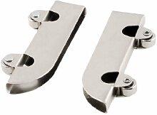 2Stück Metall Achsen Fenster Pulley Tür Schiebetür zwei Rollen Rad 6mm