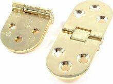 2 Stück Metall-Leiterklemmen Badezimmer goldfarben