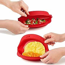 2 Stück Mikrowelle Silikon Omelette Maker,