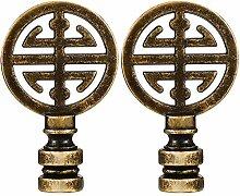2 Stück Orientalisches Glückssymbol Lampe