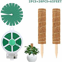 2 Stück Pflanzstab Kokos 30cm Rankstab Rankhilfe