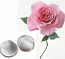 2 Stück Rosen Blütenblätter Silikon Form,