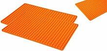 2 Stück Silikon Backunterlage Teigmatte Backmatte