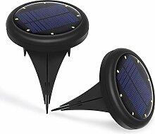 2 Stück Solarbetriebene LED Bodeneinbauleuchte,