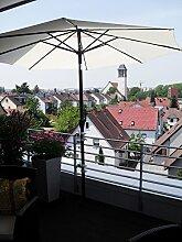 2 STÜCK - STABIELO SONNENSCHIRMHALTER für Ø bis 48 mm Stöcke mit Abstands Aufnahemhülse - 5 - fach im Radius verstellbare MULTI - Halterung 360 ° für Befestigungen an runden oder eckigen Elementen bis 55-60 mm - FÜR STÖCKE bis 48 mm DURCHMESSER - Made in Germany - INNOVATIONEN MADE in GERMANY - HOLLY PRODUKTE STABIELO ® -