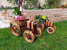 2 Stück Traktor 80 + 60 cm XXL, Korbgeflecht, WETTERFEST**, witzige Gartendeko 100% NATUR, ideal als Pflanzkasten, Blumenkasten, Pflanzhilfe, Pflanzcontainer, Pflanztröge, Pflanzschale, Rattan, Weidenkorb, Pflanzkorb, Blumentöpfe, Holzschubkarre, Pflanztrog, Pflanzgefäß, Pflanzschale, Blumentopf, Pflanzkasten, Übertopf, Übertöpfe, , Holzhaus Pflanzgefäß, Pflanztöpfe Pflanzkübel