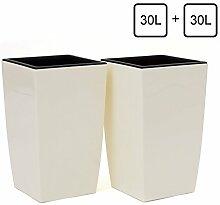 2 Stück Übertopf je 30 Liter Blumenkübel inkl.