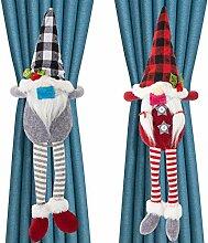 2 Stück Weihnachts-Vorhangschnallen mit