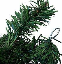 2 Stück Weihnachtsgirlande Tannengirlande 270cm