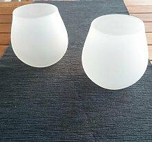 2 Stück Windlicht Milchglas , mediteranes Flair , Garten, Ambiente, Deko Licht M1