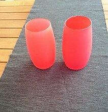 2 Stück Windlicht Rot , mediteranes Flair , Garten, Ambiente, Deko Lich