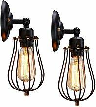 2 Stück XINYANSEE Wandlampe Vintage E27