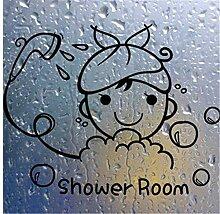 2 stücke 17x13 cm Wandaufkleber Badezimmer