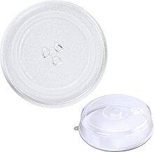 2 Stücke 25,5 cm Glas Mikrowelle Drehteller