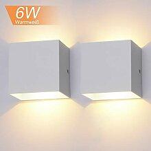 2 Stücke 6W LED Wandleuchte Up Down Indoor