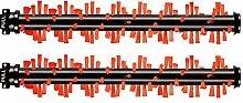 2 STÜCKE Bereich Teppich Pinsel Roller