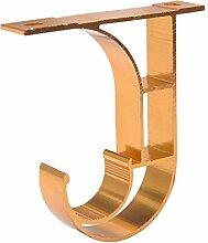 2 Stücke Gold Farbe Doppel Gardinenstange Pole