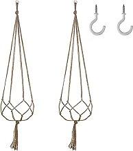 2 stücke hängende Topf Seil hanf Macrame Pflanze